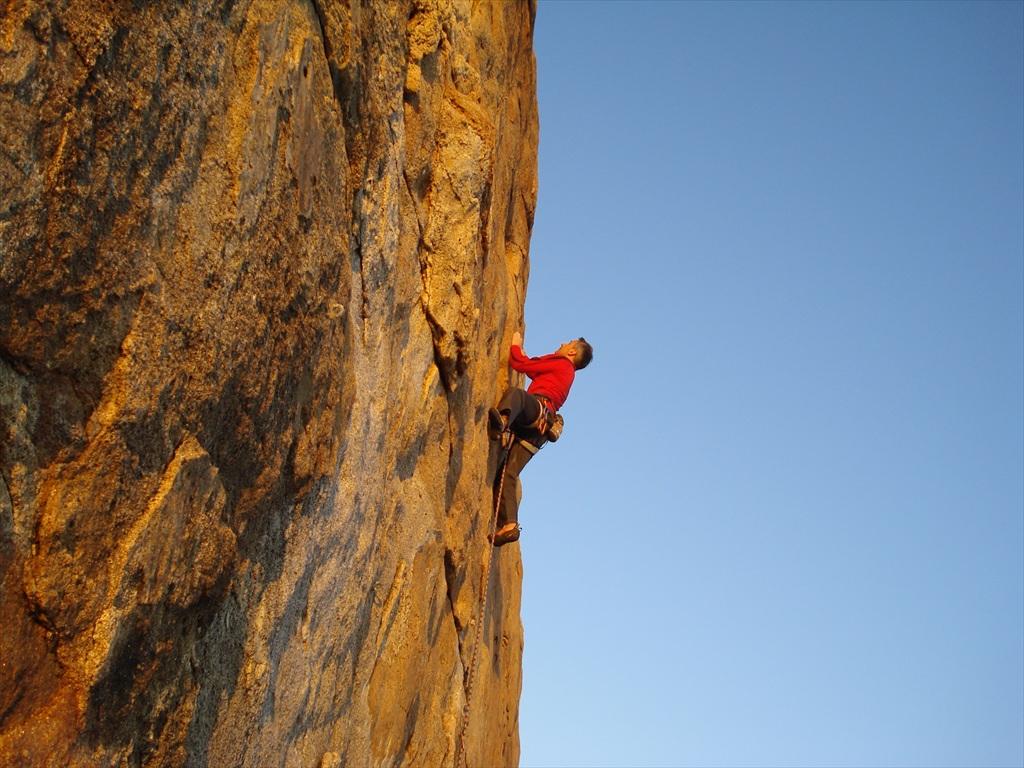 Free Climbing A Fetovaia